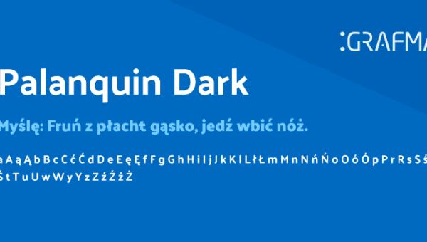 Palanquin Dark Font Free