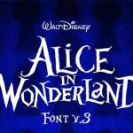Alice in Wonderland Display Font