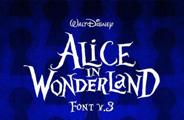 Alice in Wonderland Display Font