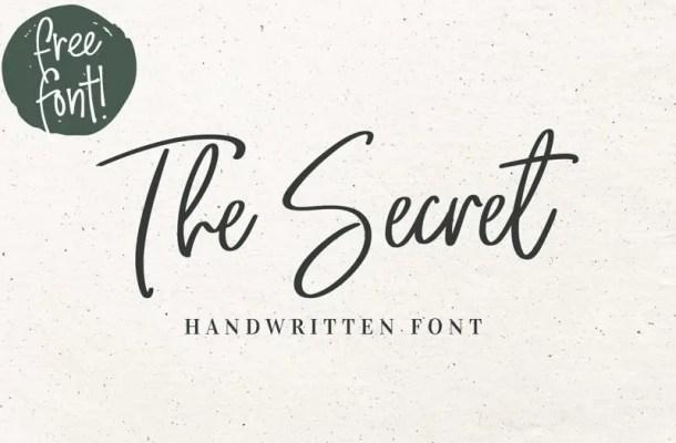 The Secret Script Font