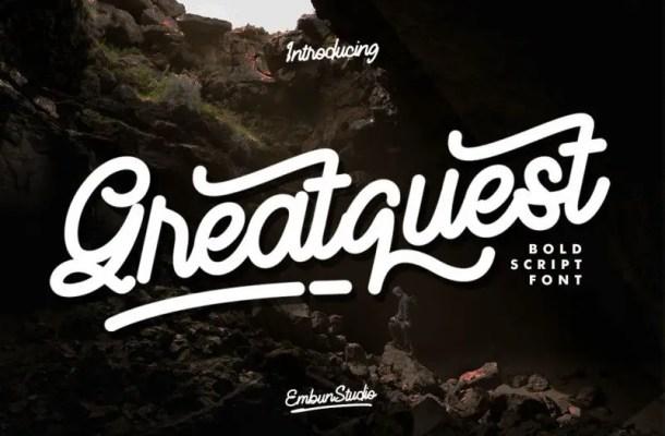 Greatquest Bold Script Font