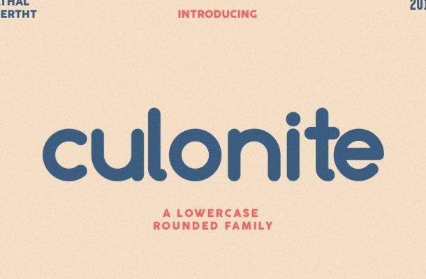 Culonite Font Family Free