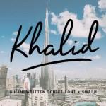 Khalid Handwritten Font Free