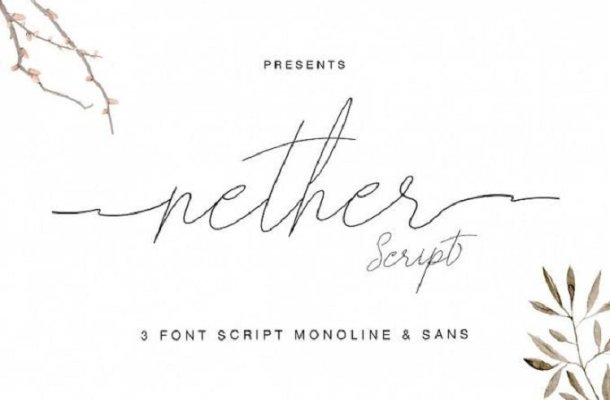 Nether Handwritten Font Free