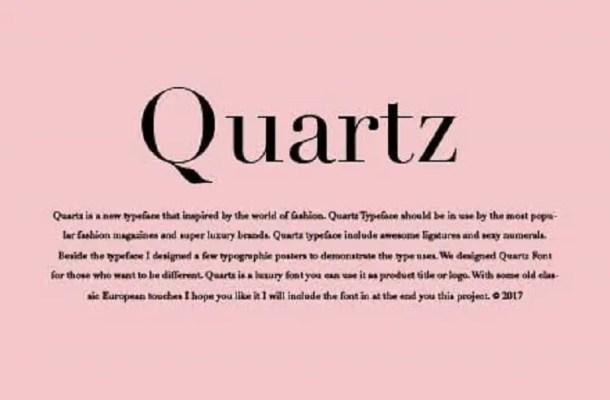Quartz Typeface Free