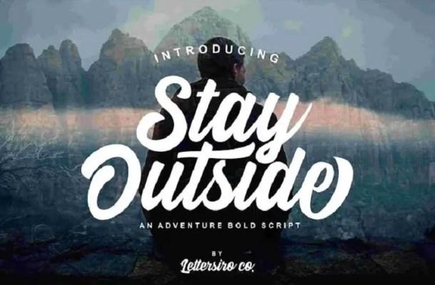 Stay Outside Script Font Free