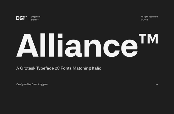 Alliance Font Family Free