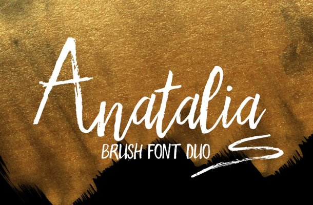 Anatalia Brush Duo Font Free