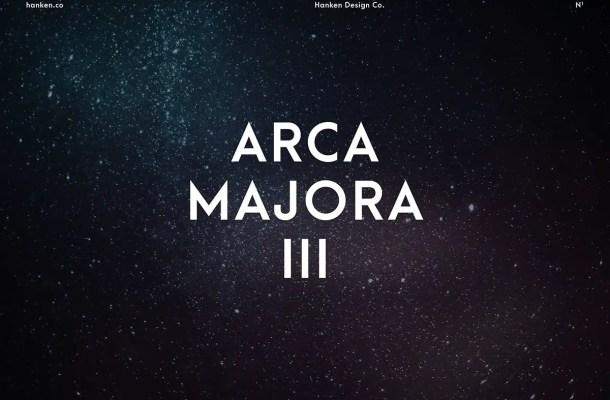 Arca Majora 3 Typeface Free
