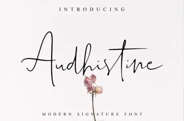 Audhistine Signature Font Free