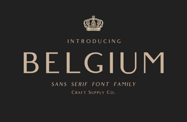 Belgium Font Family Free
