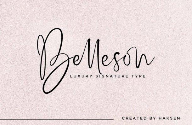 Belleson Luxury Script Font Free