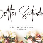 Better Saturday Script Font Free