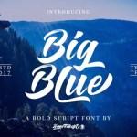 Big Blue Bold Script Font Free