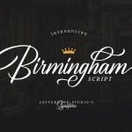 Birmingham Script Font Free