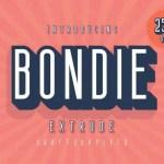 Bondie Extrude Font Family Free