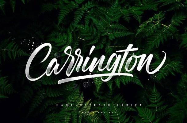 Carrington Script Font Free