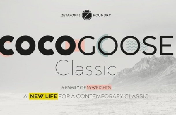 Cocogoose Classic Font Famly Free