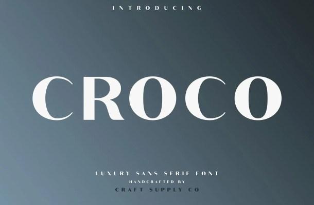 Croco Sans Serif Font Free
