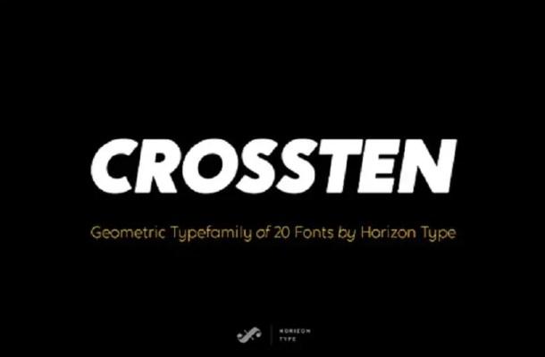 Crossten Font Family Free