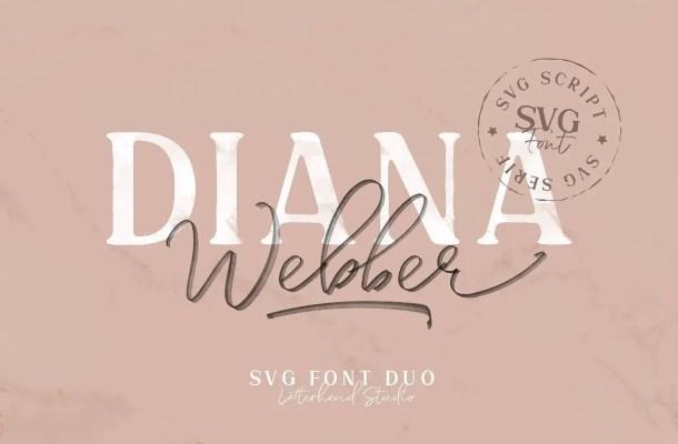 Diana Webber SVG Font Duo Free