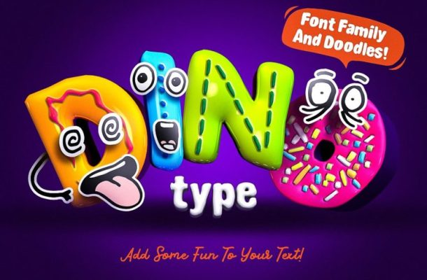 DinoType Font Family Free