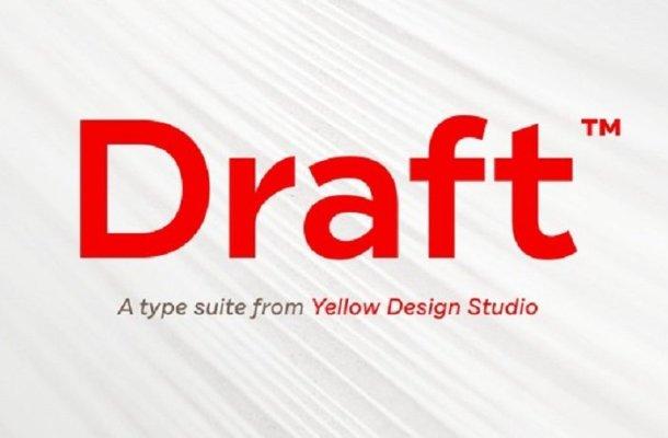 Draft Font Family Free