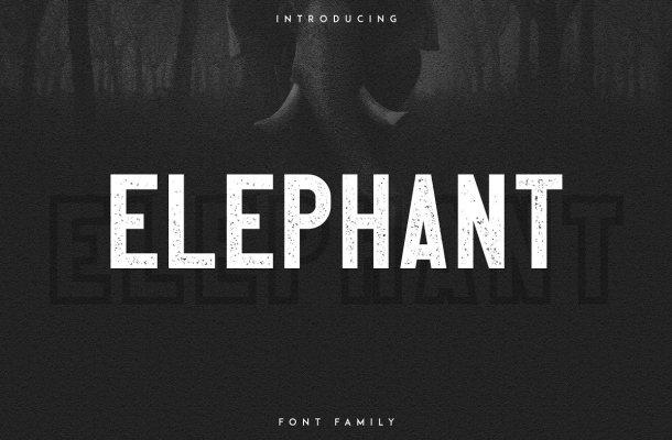 Elephant Font Family Free