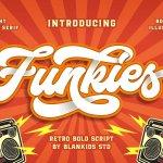Funkies Bold Script Font Free