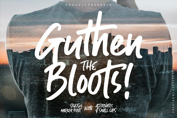 Guthen Bloots Brush Font Free