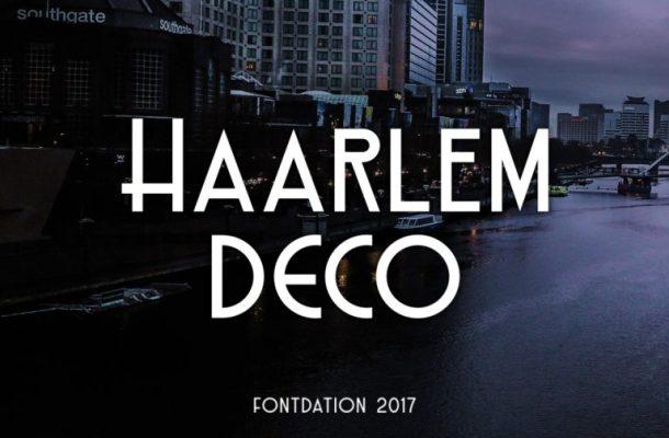 Haarlem Deco Typeface Free