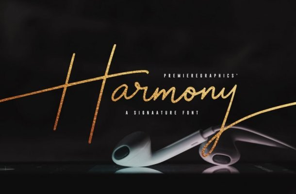 Harmony Signature Font Free
