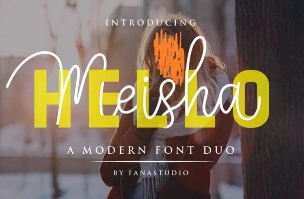 Hello Meisha Font Duo Free