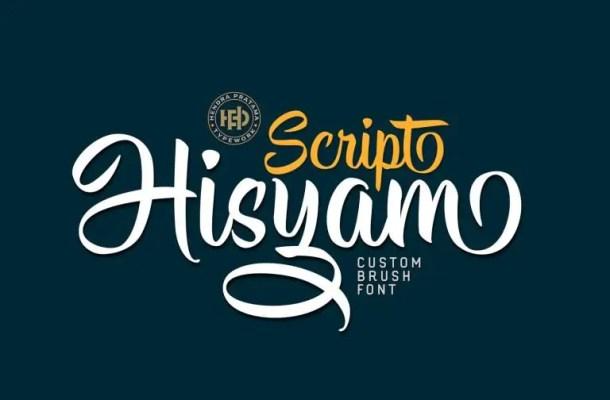 Hisyam Script Font Free
