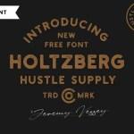 Holtzberg Typeface Free