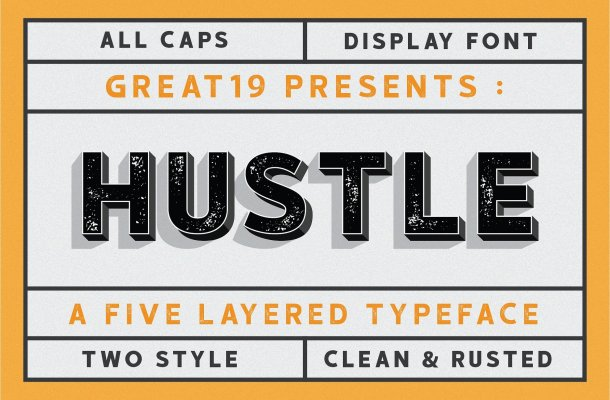 Hustle Display Font Free