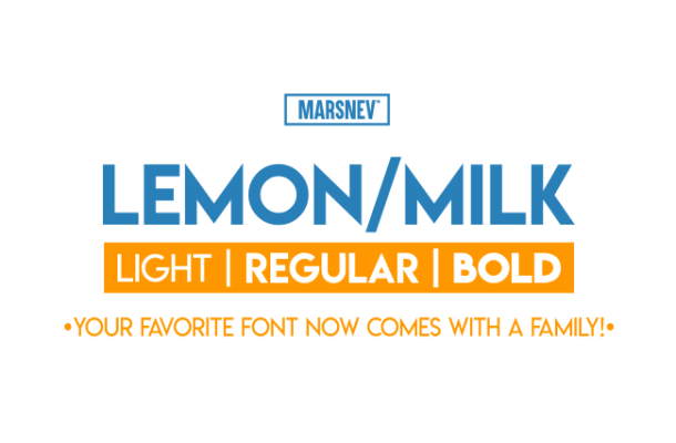 Lemon Milk Font Family Free