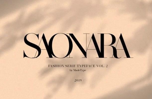 Made Saonara Serif Font Free