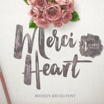 Merci Heart Brush Font Free