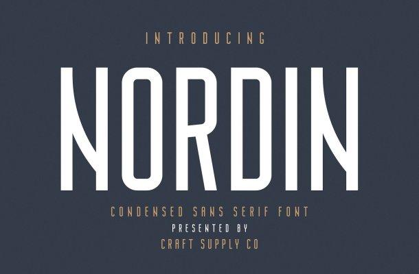 Nordin Sans Serif Font Free
