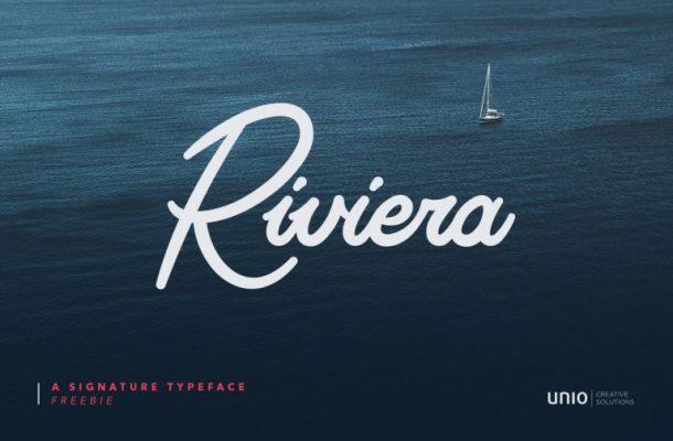 Riviera Signature Font Free