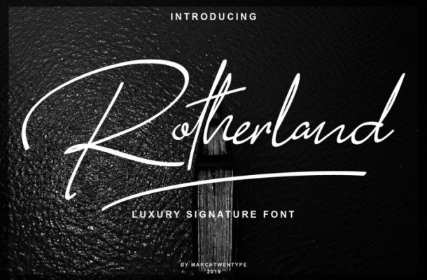 Rotherland Signature Font Free