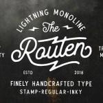 Routen Lightning Monoline Font Free