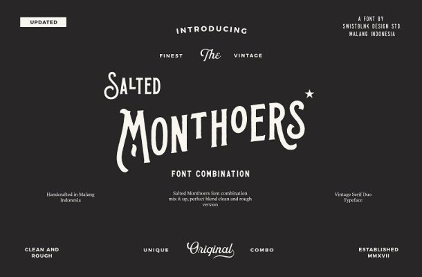 Salted Monthoers Typeface Free
