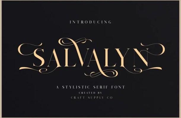 Salvalyn Serif Font Free