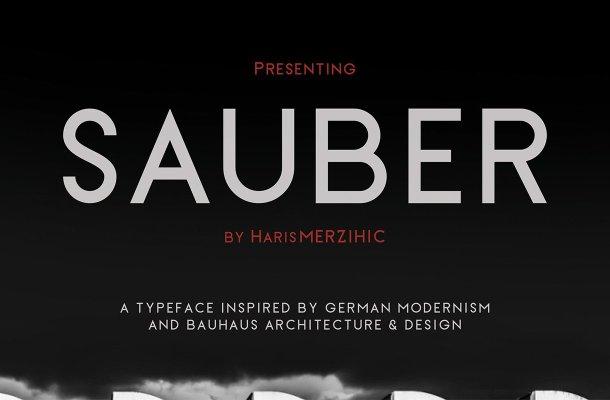 Sauber Typeface Free