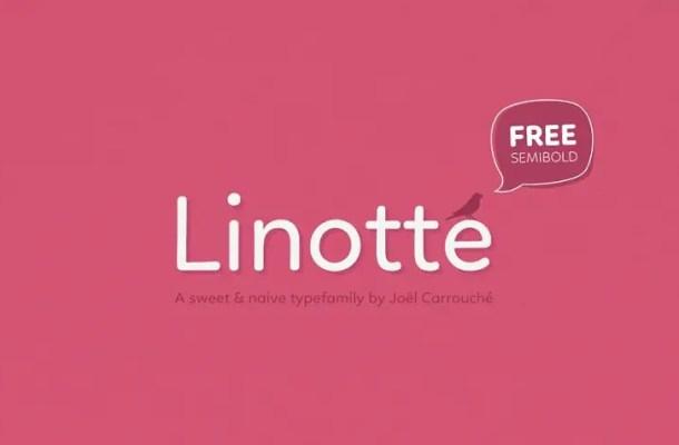 Linotte SemiBold Font Free