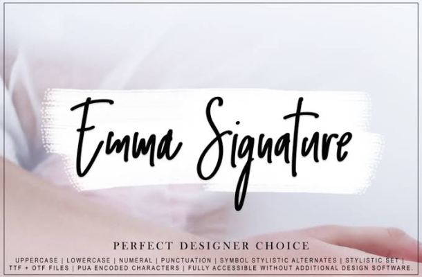 Emma Signature Font Free
