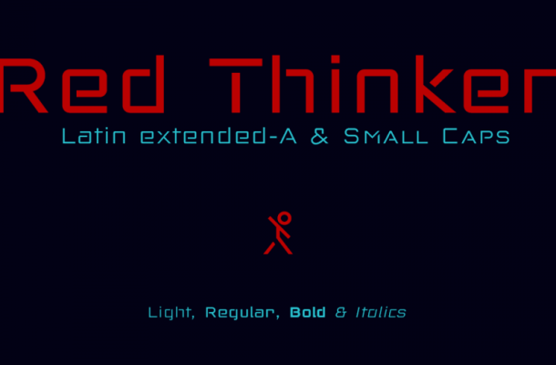 Red Thinker Font Free