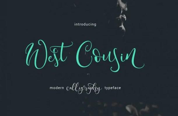 West Cousin Script Font Free